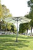 Outsunny - Ombrellone da Giardino Parasole in Ferro da Balcone Φ3 × 2.45m Crema