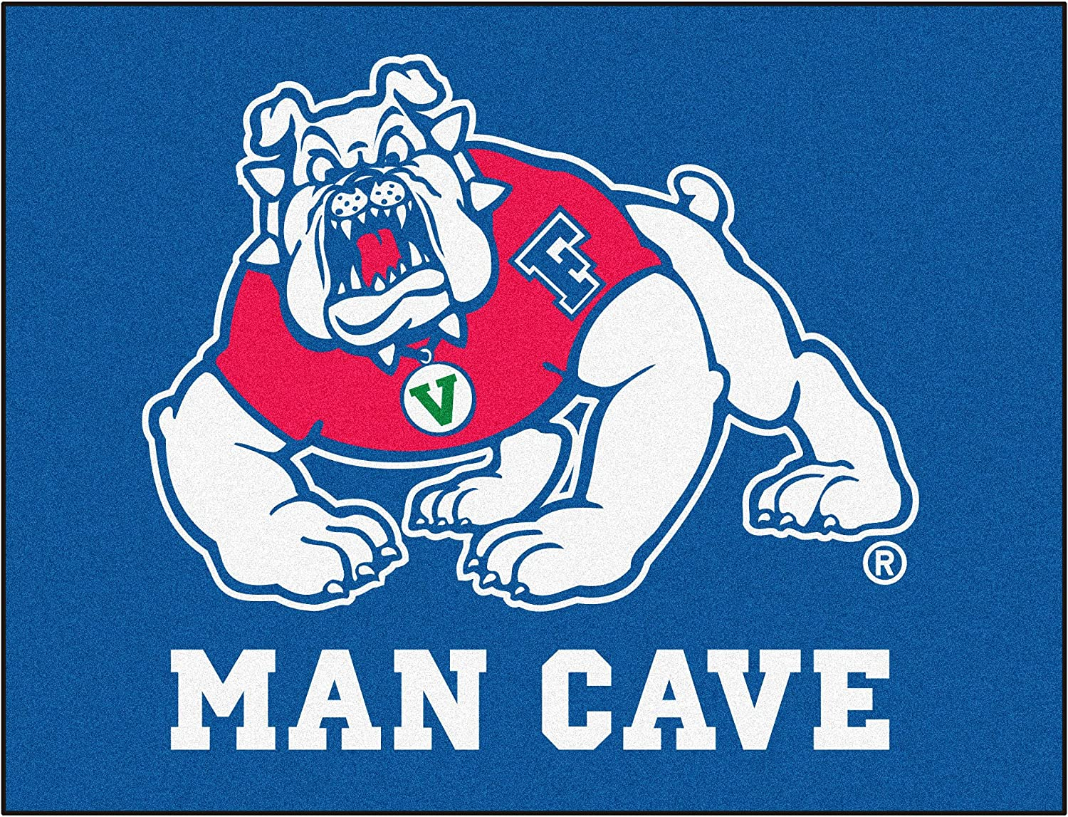 FANMATS 17262 Team Color 33.75x42.5 Fresno State Man Cave All-Star Mat