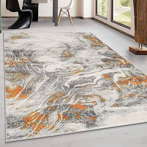 Rugshop Parma Modern Marble Abstract Area Rug 5' x 7' Multi