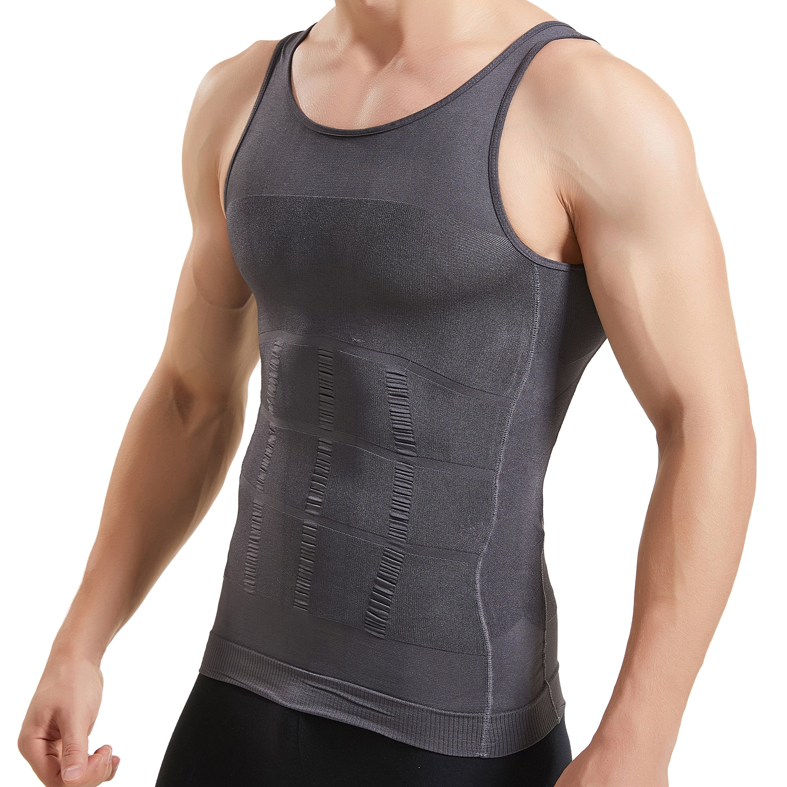 UnsichtBra Muscle Tank Compression Figure-Forming Slimming Men/'s Undershirt