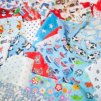 Fat Quarter Fabric Bundles KIDS CHILDRENS NURSERY BOY GIRL Polycotton Material