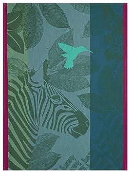 Le Jacquard Français 24671 Paño Zebra Family Verde 60x80 Algodón: Amazon.es: Hogar