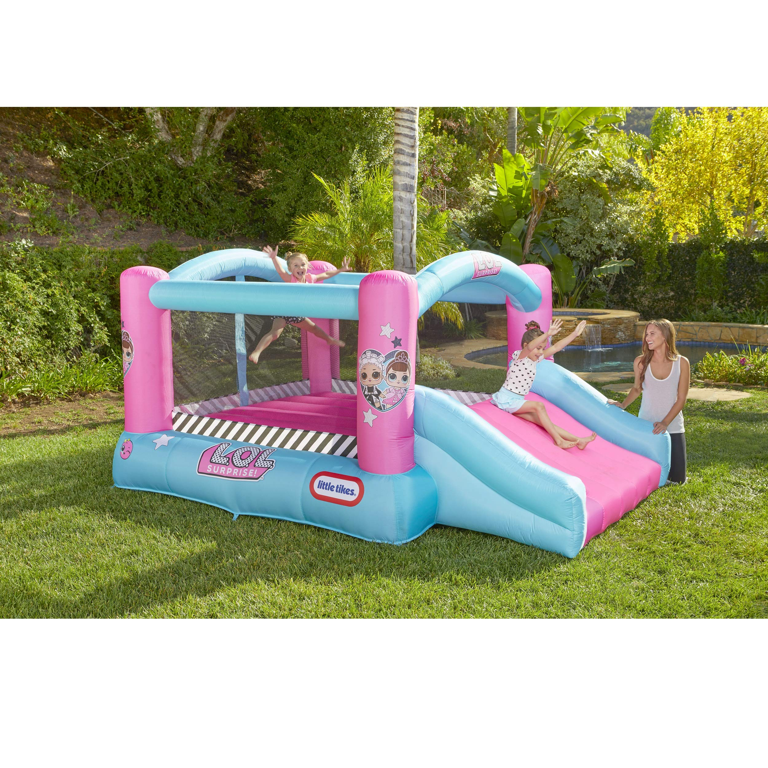 L.O.L. Surprise Jump 'n Slide Inflatable Bounce House with Blower by Little Tikes (Image #2)
