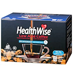 HealthWise Low Acid Swiss Water Decaffeinated CoffeeHealthWise Low Acid Swiss Water Decaffeinated Coffee