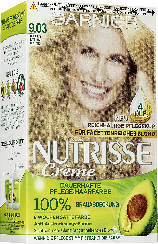 Garnier Nutrisse crema de coloracion, Rubio natural brillante ,3 ...