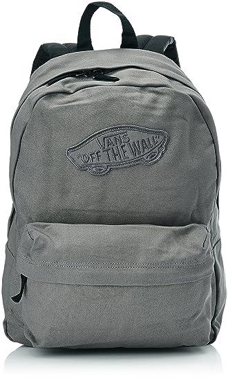 Vans Damen Rucksack G Realm Backpack, Pewter Grau, 42.5 x 32 x 12.5 cm, 22  Liter, VNZ0AGO
