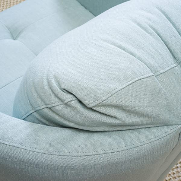 Christopher Knight Home 296195 Concordia Fabric Swivel Chair Light Blue