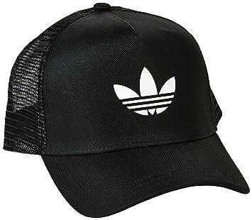 555e3014362a6 adidas Trefoil Trucker Cap - Black White