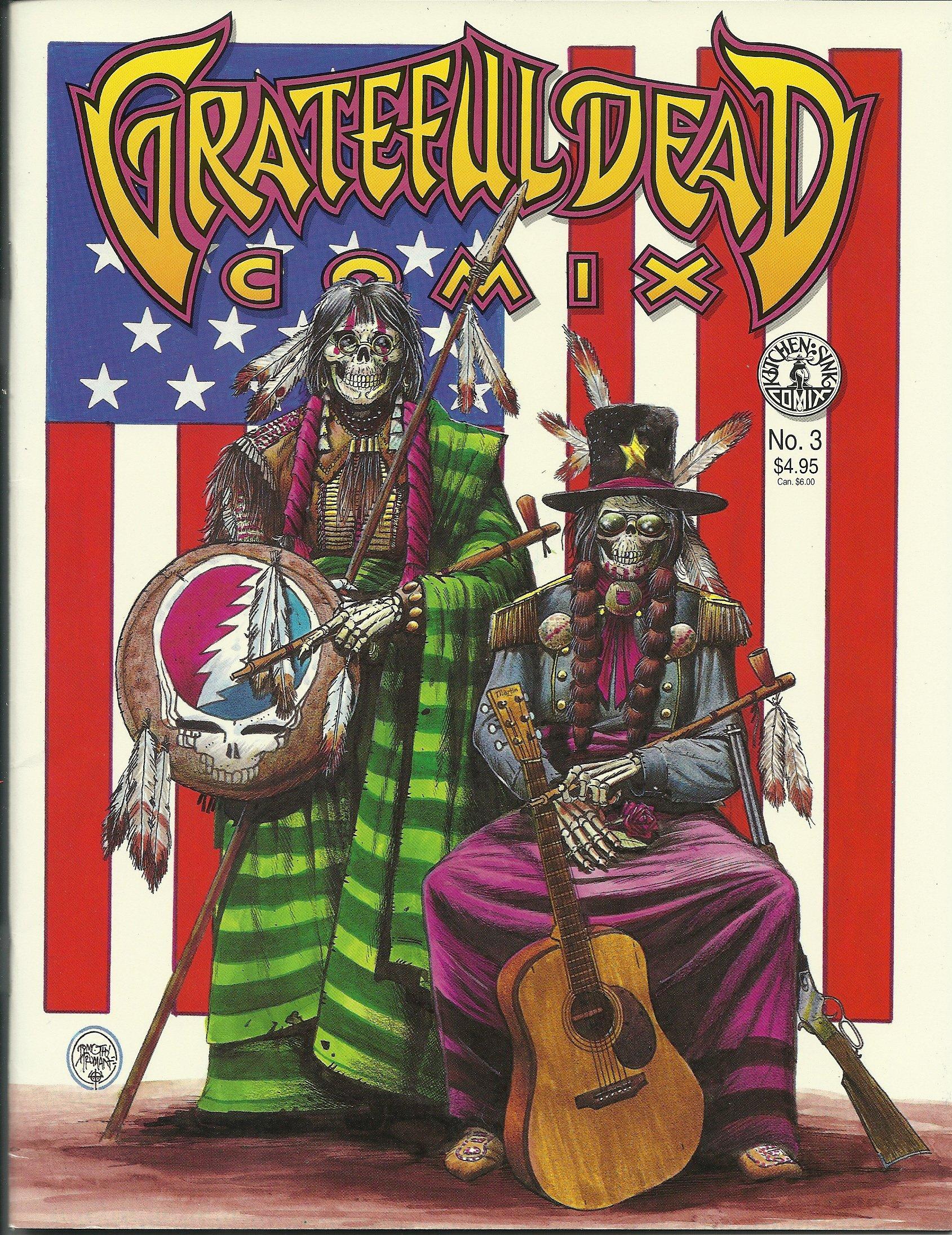 GRATEFUL DEAD COMIX ~ VOLUME 1 ISSUE 4 ~ BRAND NEW CONDITION~KITCHEN SINK PRESS