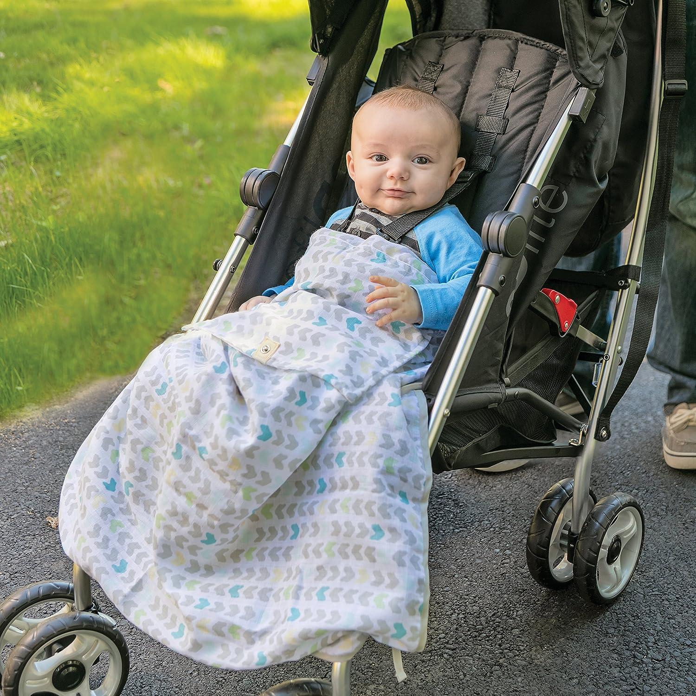 Summer Infant Muslin Stroller Blanket Arrow Stripe
