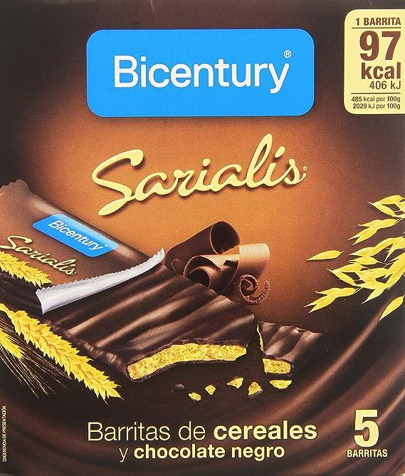 Bicentury - Sarialis - Barritas de cereales y chocolate negro - 100 g 5 barritas: Amazon.es: Alimentación y bebidas