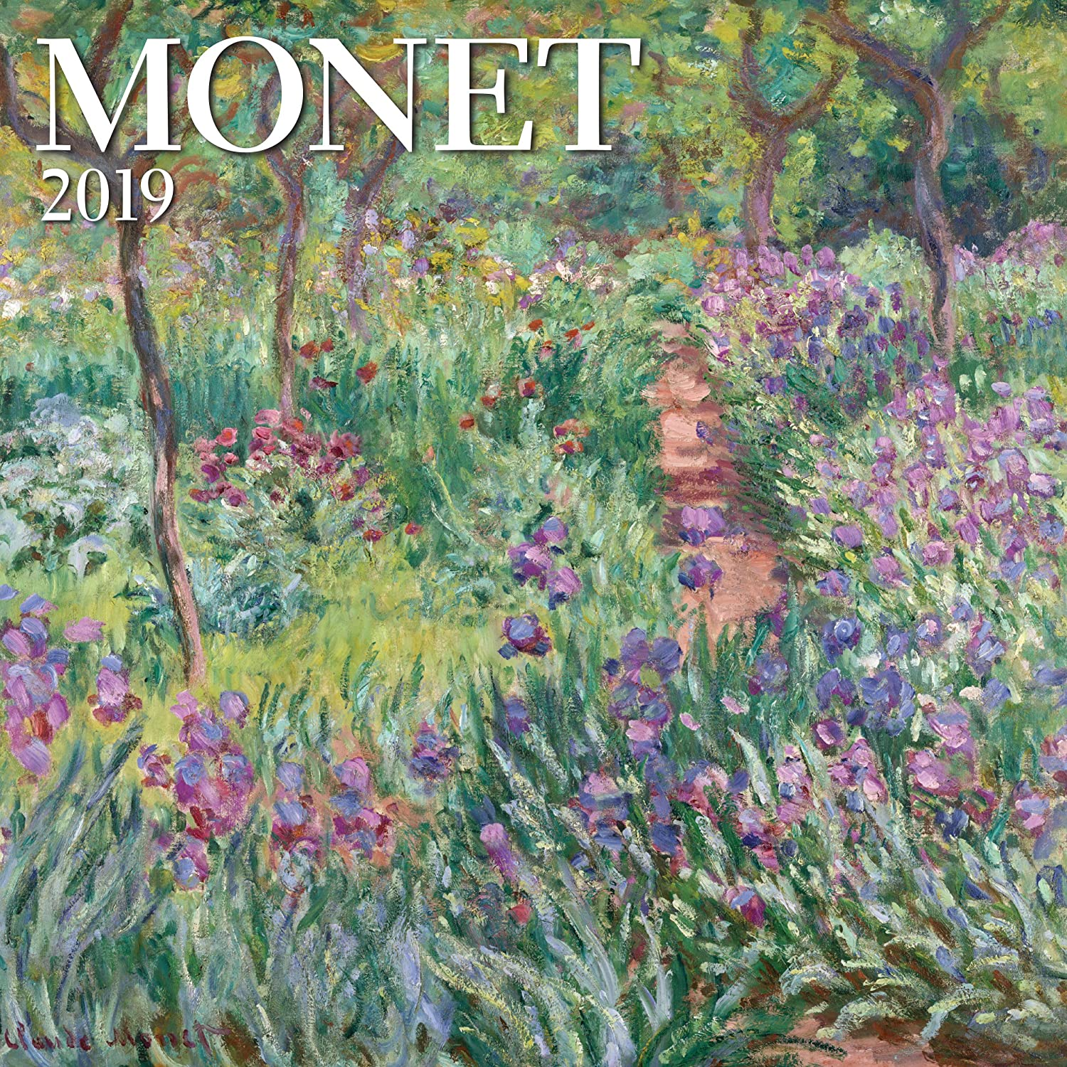 """Amazon.com : Monet Mini Wall Calendar 2019 Monthly January-December 7"""" x 7""""  : Office Products"""