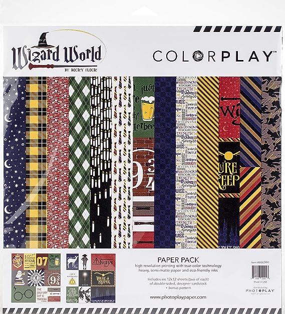 Photoplay Paper Wizard World - Kit para álbumes de recortes o scrapbook, diseño de magos, 30,5 x 30,5 cm: Amazon.es: Hogar