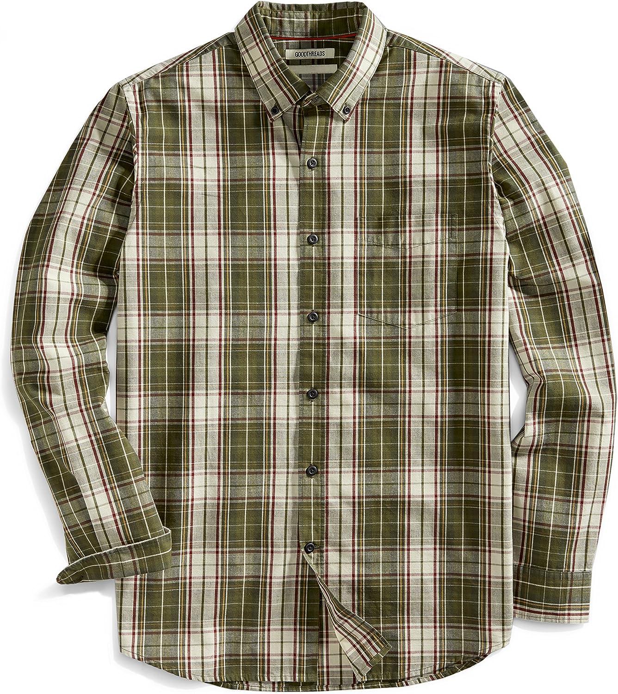 Brand Goodthreads Men/'s Standard-Fit Plaid Twill Shirt Brand