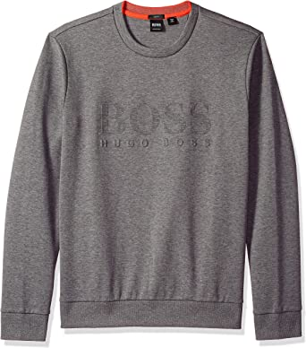 Hugo Boss Mens Authentic Long Sleeve Crew Neck Cotton Sweatshirt