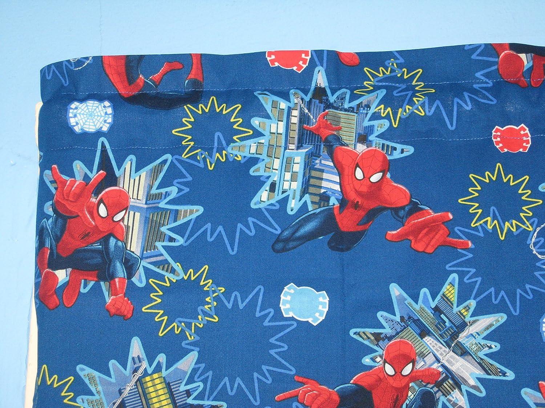RED Blue Spider Man Cotton Window Curtain Valance Handmade
