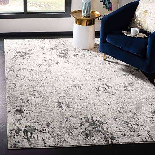 Safavieh Vogue Collection VGE144A Beige and Charcoal 10 x 14 Area Rug