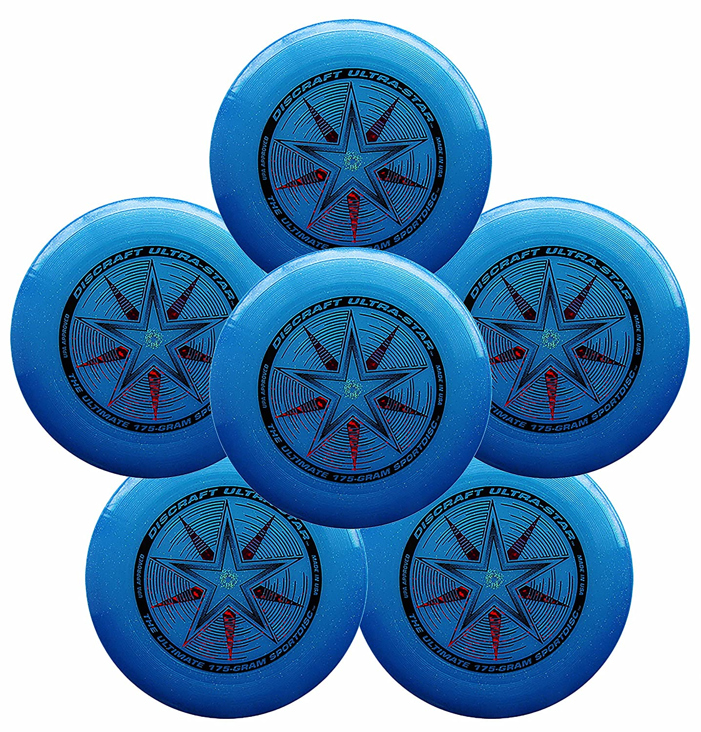 Discraft Ultra-Star 175g Ultimate Frisbee Sport Disc (6 Pack) Choose Color (Purple)