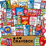 CraveBox Care Package (45 Count) Snacks Cookies Bars Chips Candy Ultimate Variety Gift Box Pack Assortment Basket Bundle…