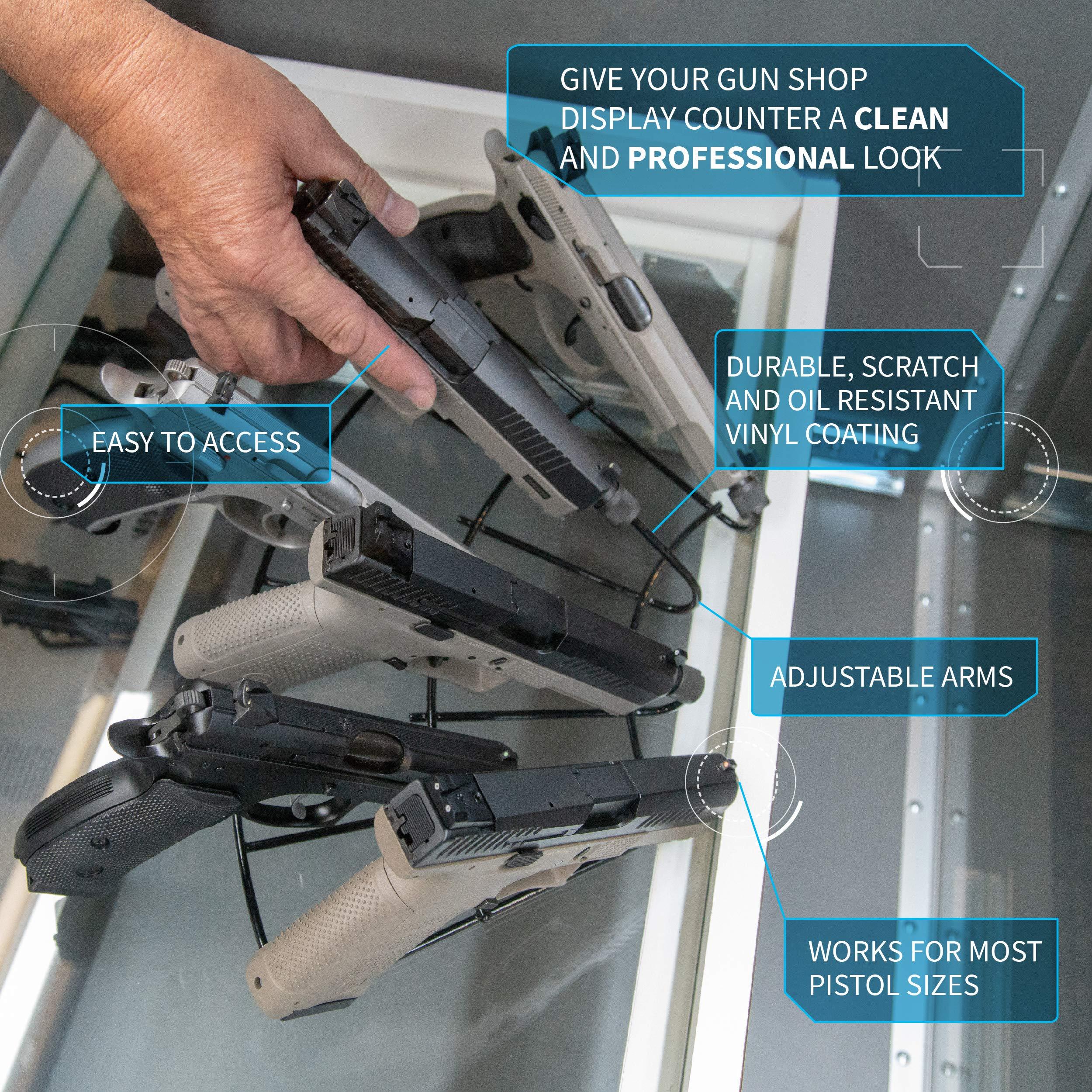 Gun Storage Solutions FanStand - Handgun Display Radial FanStand Kikstand Holds 7 Guns by Gun Storage Solutions