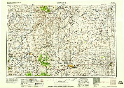 Amazon Com Yellowmaps Cheyenne Wy Topo Map 1 250000 Scale 1 X 2