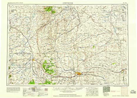 United States Map Topography.Cheyenne Wyoming Topographic Map