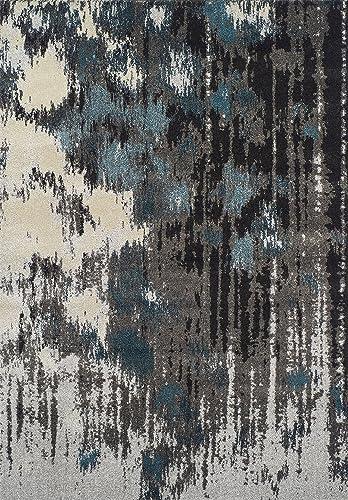 Dalyn Rugs Modern Greys Rug, 9 6 x 13 2 , Teal