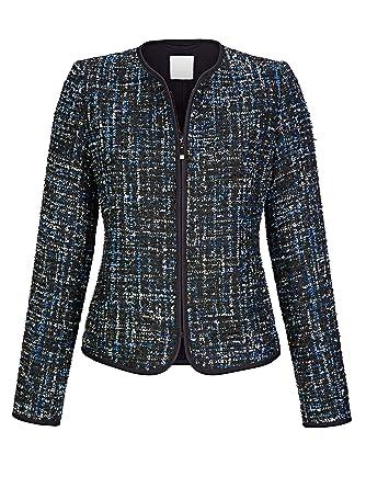 Alba Moda Damen Blazer mit tollem Bouclé-Material in modischer Farbgebung   Amazon.de  Bekleidung c122190b4b