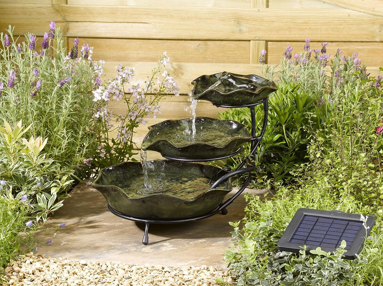 Smart Solar LillyPad Gartenbrunnen aus Keramik