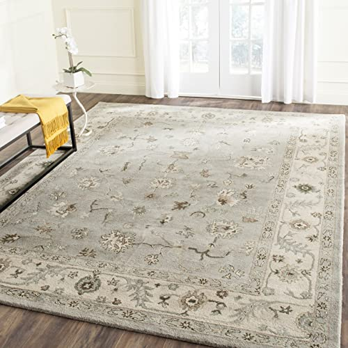 Safavieh Heritage Collection HG865A Handcrafted Traditional Oriental Beige and Grey Wool Area Rug 9 x 12