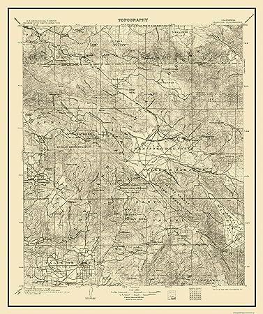 Amazoncom Topographical Map Print Ramona California Quad - California map ramona