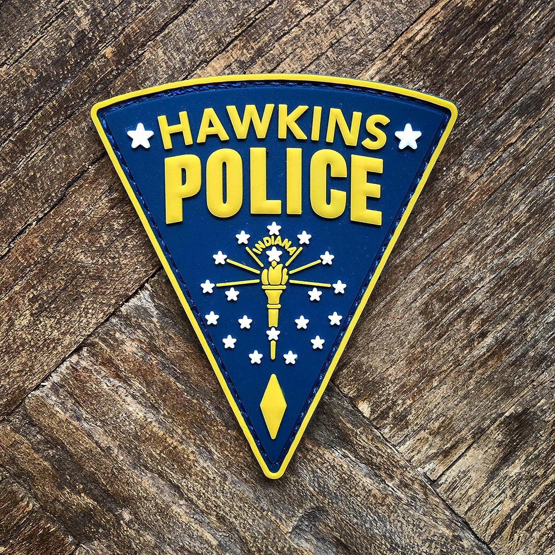 Extraño cosas Hawkins Policía Jim Hopper PVC de goma Velcro respaldado con la moral parche – Accesorio Pieza que se puede coser sobre – moderno no Tread On Me versión por Neo