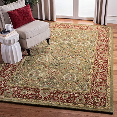 Safavieh Persian Legend Collection PL819B Handmade Traditional Light Green and Rust Wool Area Rug 2'6″ x 4'
