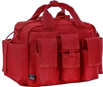 LA Police Gear Tactical Mil-Spec 600 Denier Nylon EDU Operator Diaper Bag-Red