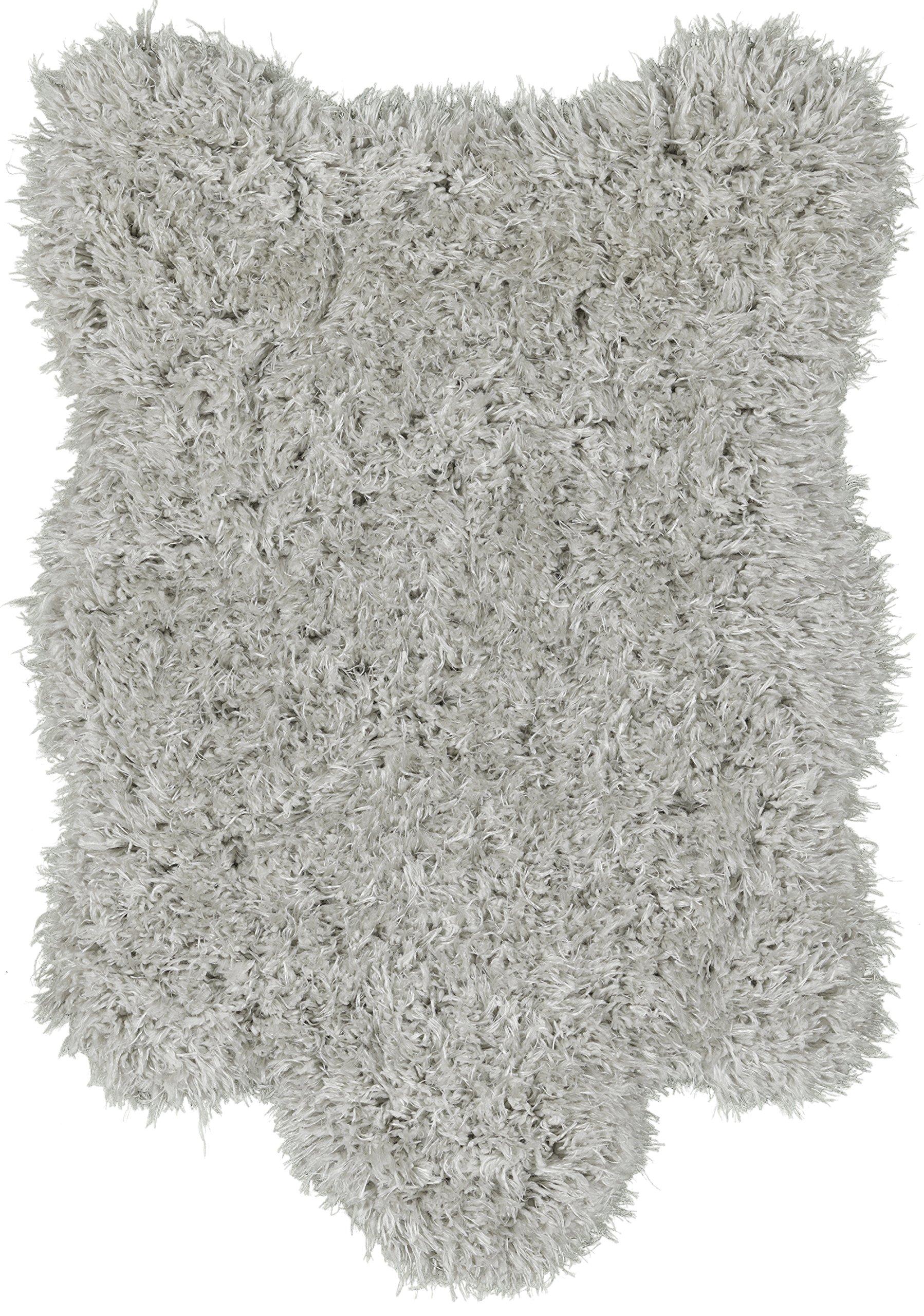 Ottomanson Flokati Collection Faux Sheepskin Lambskin Design Shag Rug, 2'X3'3'', Grey
