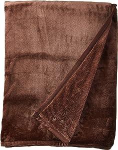 Qbedding Inc. Luxury Collection Ultra Soft Plush Fleece Lightweight All-Season Throw/Bed Blanket (Twin (59-Inch-by-78-Inch), Dark Chocolate)