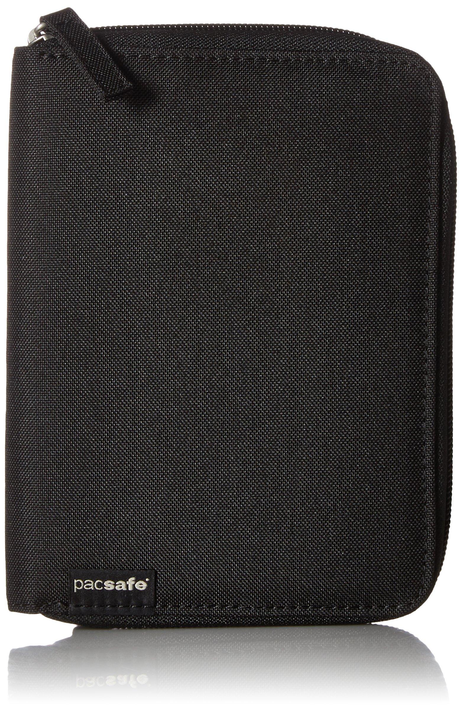 Pacsafe RFIDsafe LX150 Anti-Theft RFID Blocking Passport Wallet, Black by Pacsafe