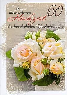 Gluckwunschkarte Diamanthochzeit 60 Jahre Hochzeitstag Amazon De