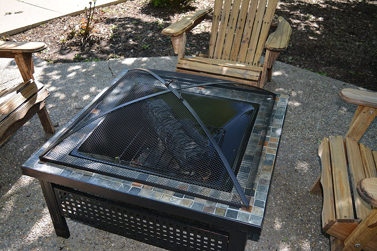 Hampton's Buzaar Square Fire Pit Screen