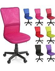 TRESKO® Sedia da Ufficio Sedia da scrivania Girevole, in 6 Colori Diversi, Regolabile in Altezza, Sedile Imbottito, Sedia ergonomica, pistone Approvato SGS