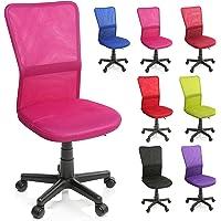 TRESKO Bürostuhl Schreibtischstuhl Drehstuhl, erhätlich in 7 Farbvarianten, mit Kunststoff-Leichtlaufrollen, stufenlos höhenverstellbar, gepolsterte Sitzfläche, ergonomische Passform, Lift SGS-geprüft