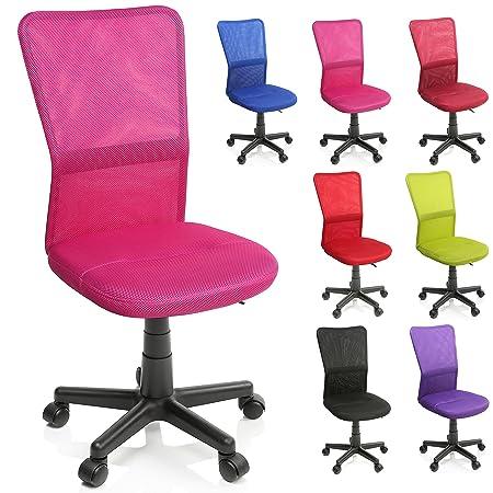 TRESKO Bürostuhl Schreibtischstuhl Drehstuhl, erhätlich in 7 Farbvarianten, mit Kunststoff-Leichtlaufrollen, stufenlos höhenv