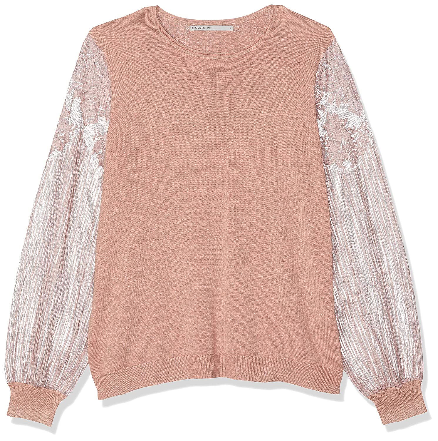 Only Onlviktoria L/S Lace Pullover Knt suéter para Mujer