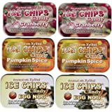 Ice Chips Holiday Pack Includes: Pumpkin Spice, Egg Nog, Cranberry