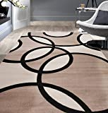 Rugshop Contemporary Abstract Circles Area Rug