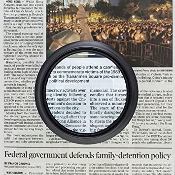 Amazon magnifying glass with light for reading books handheld amazon magnifying glass with light for reading books handheld dome magnifier 5x led large viewer easy to grip ideal for reading small print coins malvernweather Gallery
