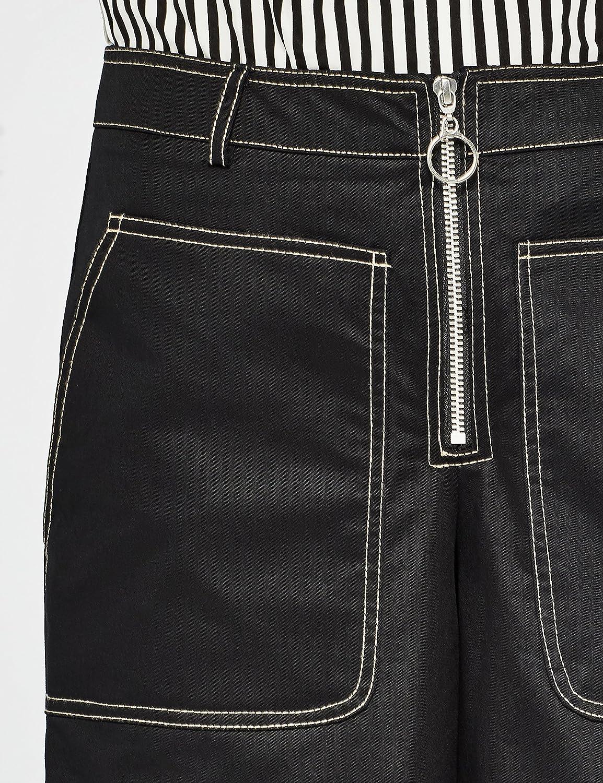 Marca Amazon Find Pantalones Tobilleros Anchos Mujer Azul Navy2 38 Label S Amazon Es Ropa Y Accesorios