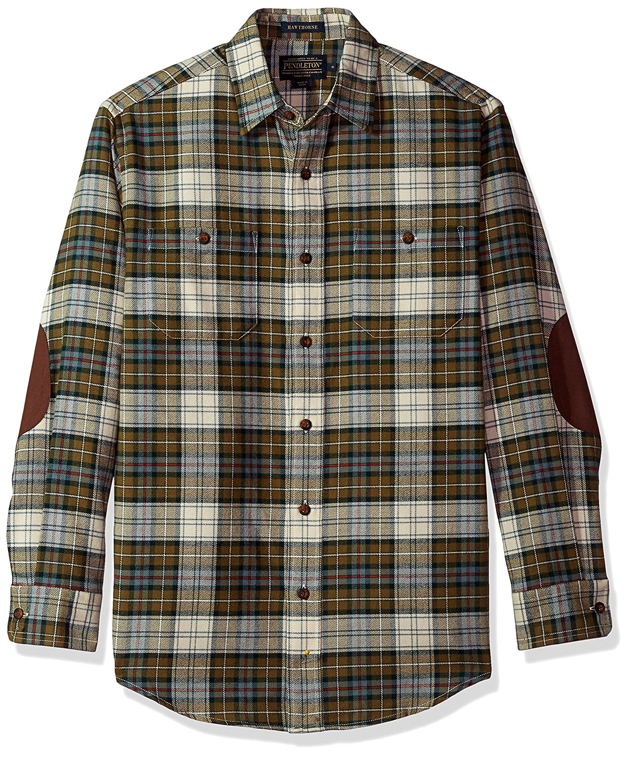 Pendleton Herren Long Sleeve Button Front Hawthorne Flannel Shirt Button Down Hemd