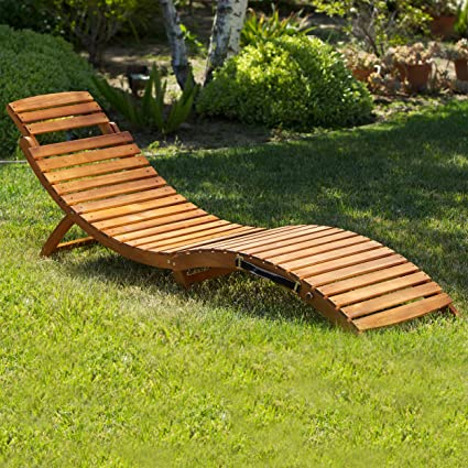 Great Deal Furniture (Set Of 2) Lisbon Outdoor Folding Chaise Lounge Chair