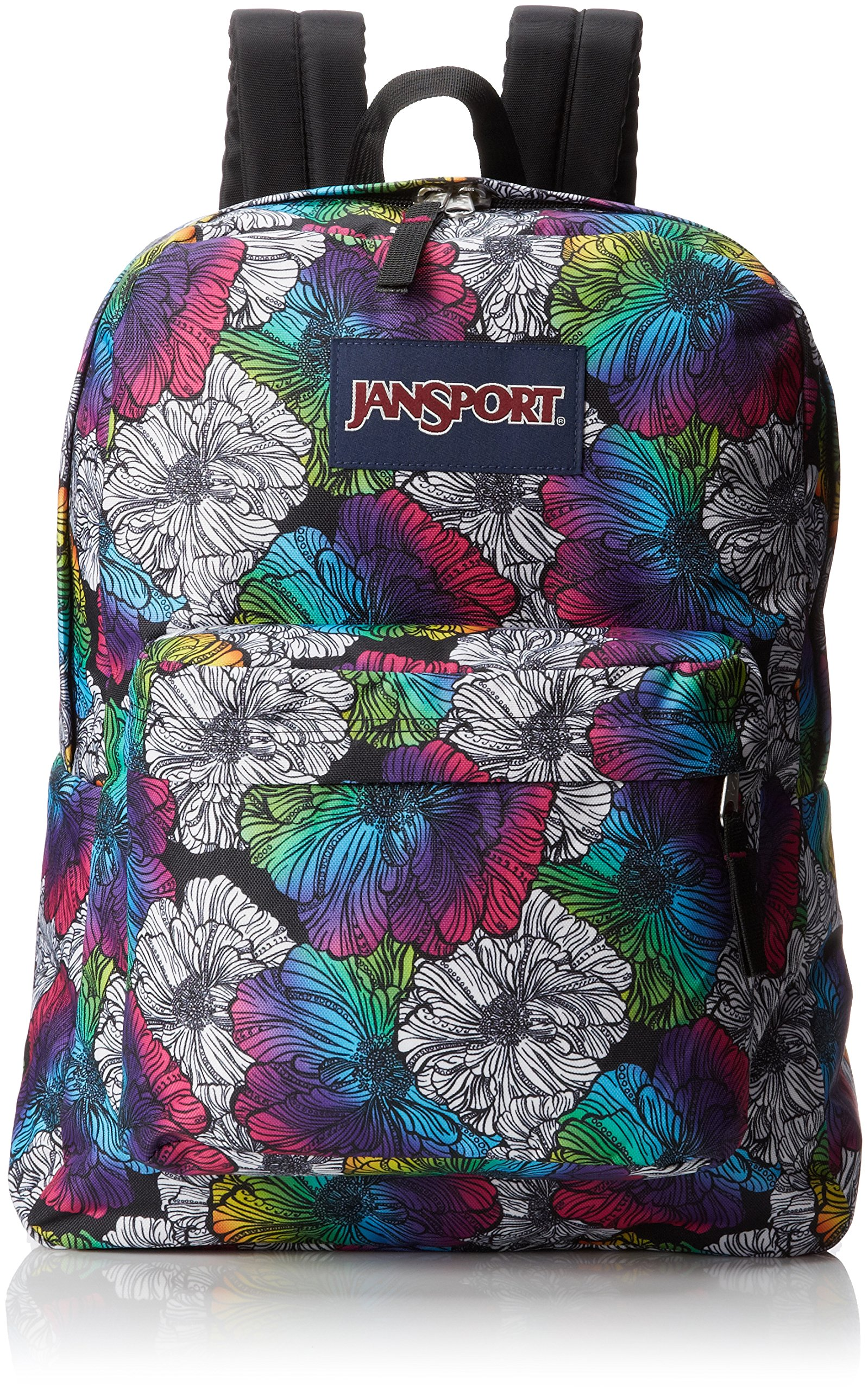 JanSport Superbreak Backpack - Multi Ombre Floral / 16.7H x 13W x 8.5D